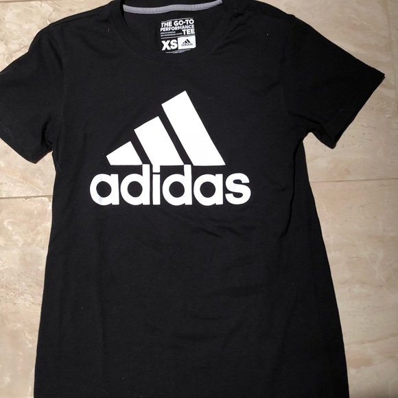 adidas tops the go to performance tee poshmark. Black Bedroom Furniture Sets. Home Design Ideas